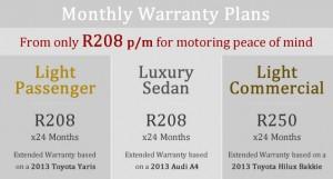 warranty-plans-2017-toyota-yaris-audi-A4-toyota-hilux
