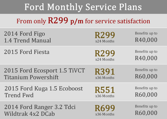 ford service plans figo fiesta kuga ecoboost ecosport ranger